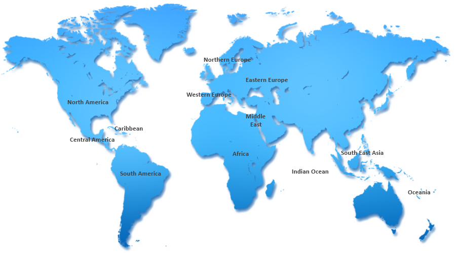 World Scuba Diving Regions