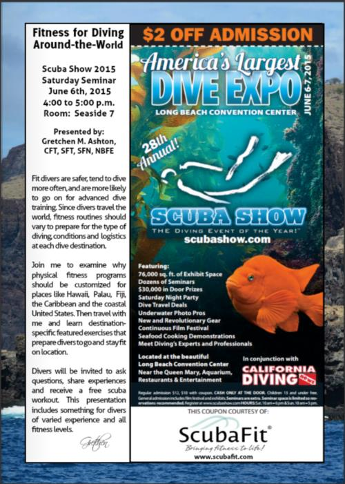 Fitness for Diving Seminar at Scuba Show 2015