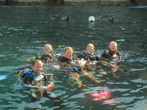 The PADI IE is finishing...Instructor and Superbowl party here we come!!!