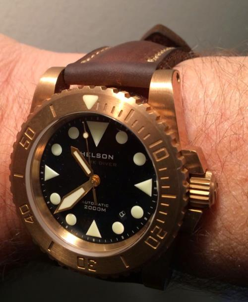 Some of you may have seen the Helson Shark Diver Watch before - in Surgical Steel.