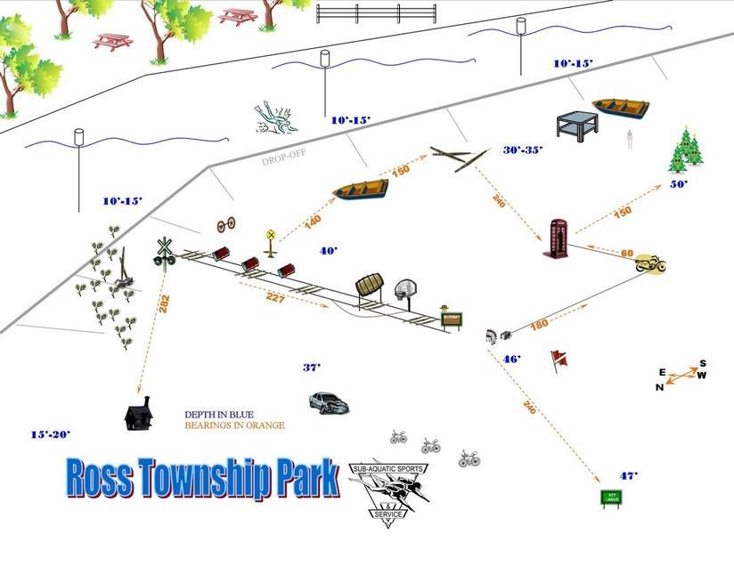 Gull Lake Ross Township Park - Gull Lake Ross Township Park Underwater Map