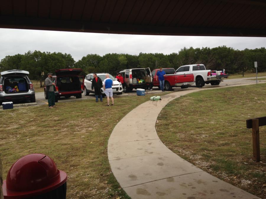 Wheeler Branch Lake - Unloading gear, tanks, etc