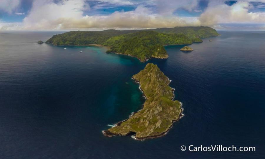 Cocos Island - Cocos Island from a Drone