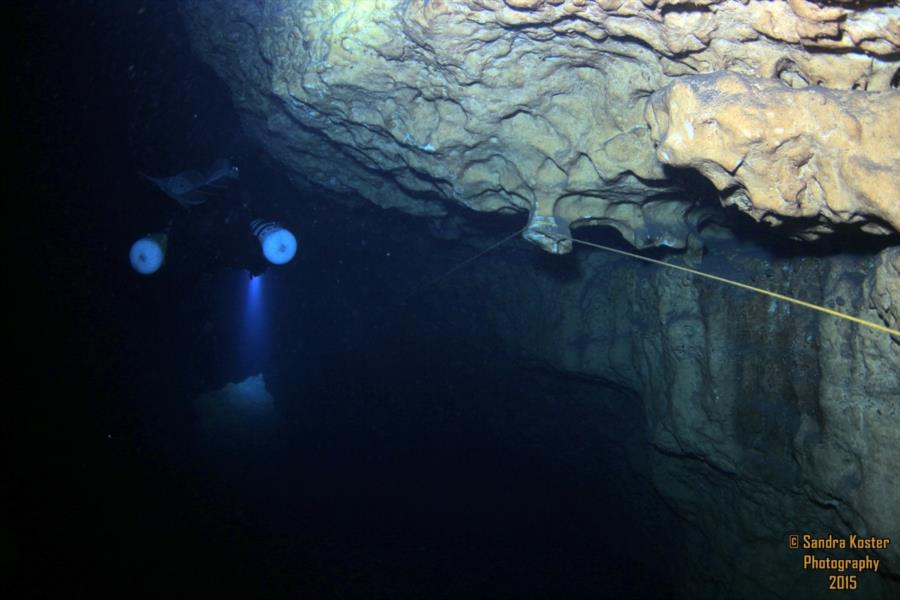 The Cave at Blue Grotto (aka: Blue Grotto Cave) - Entering the cave system to the right