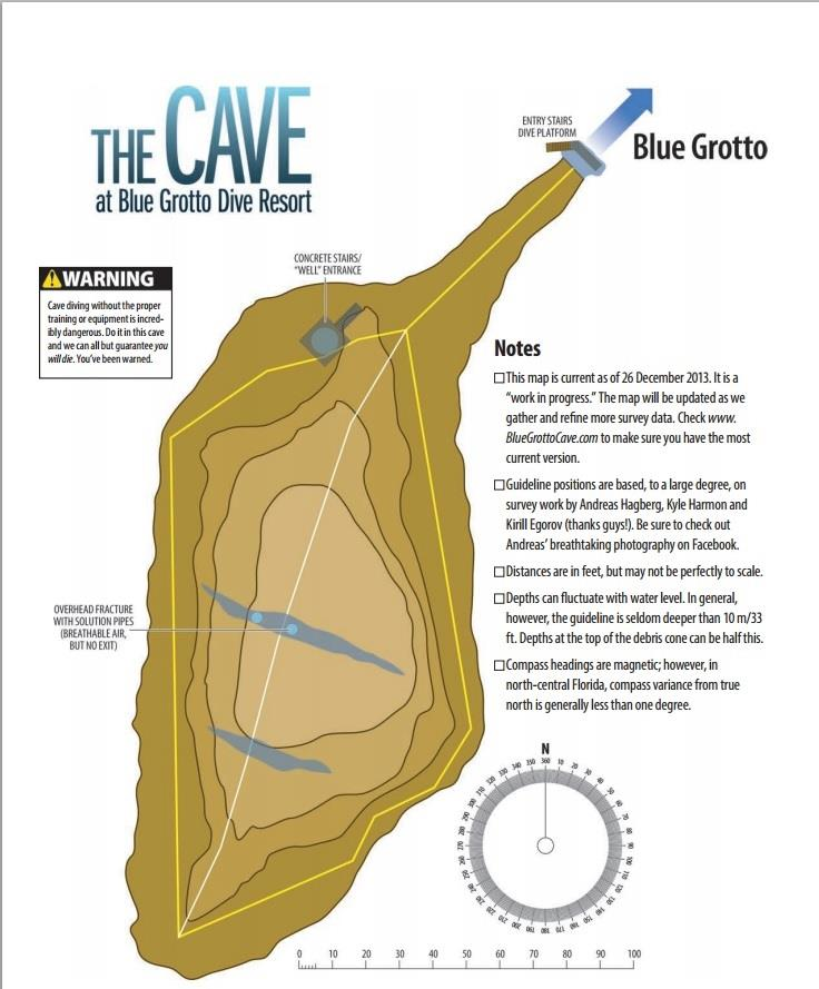 The Cave at Blue Grotto (aka: Blue Grotto Cave) - BlueGrottoCave System Map