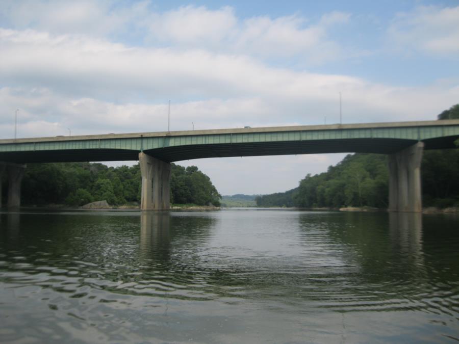 Cabin John Bridge - Cabin John Bridge (I-495) over Potomac