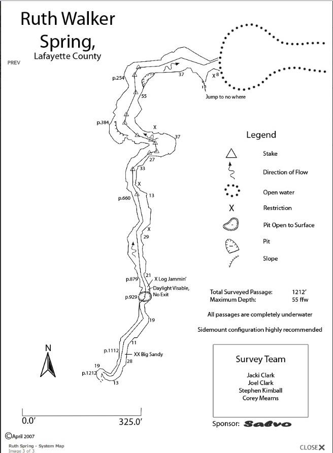Ruth Walker Spring - Ruth Walker System Map