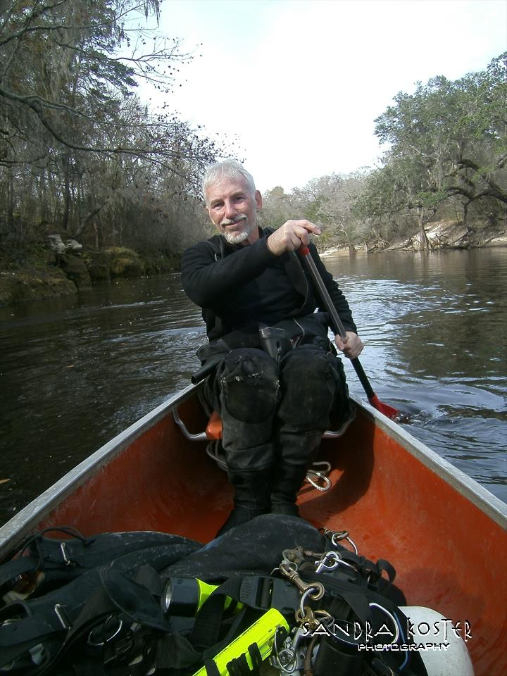 Lineater Spring - Guy Bryant getting us going up the Suwannee