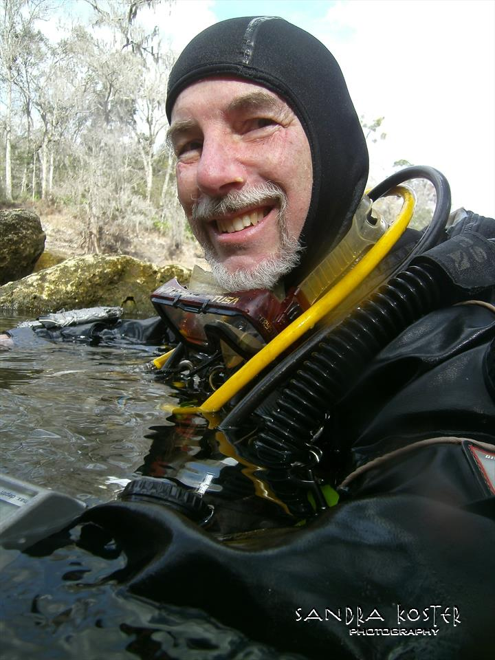 Lineater Spring - Guy Bryant, diver who named the site and mapped it.