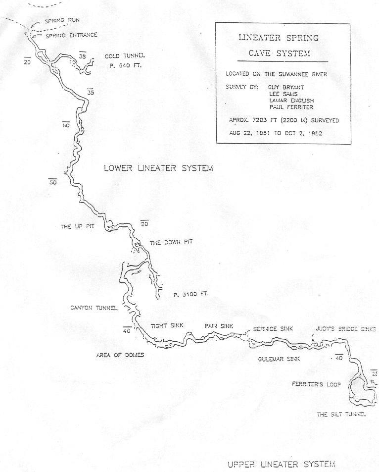 Lineater Spring - Upper Lineater System Map