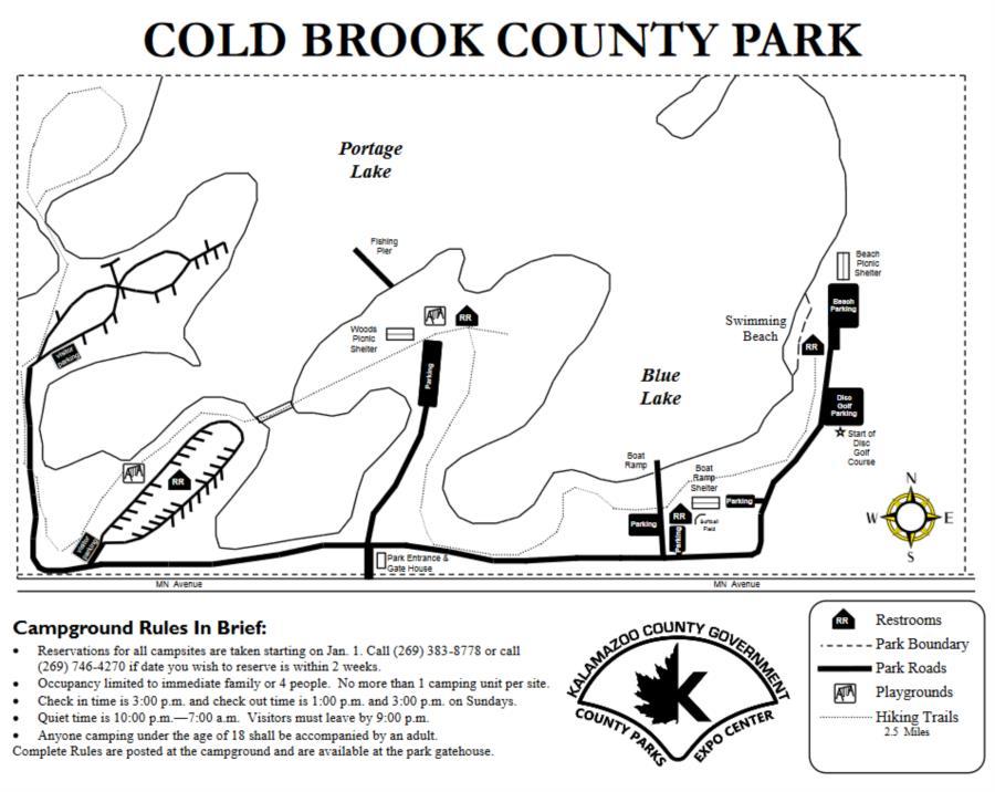 Blue lake, Cold Brook Park - Cold Brook Park