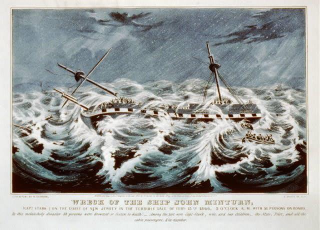 John Minturn - Currier & Ives print of wreck