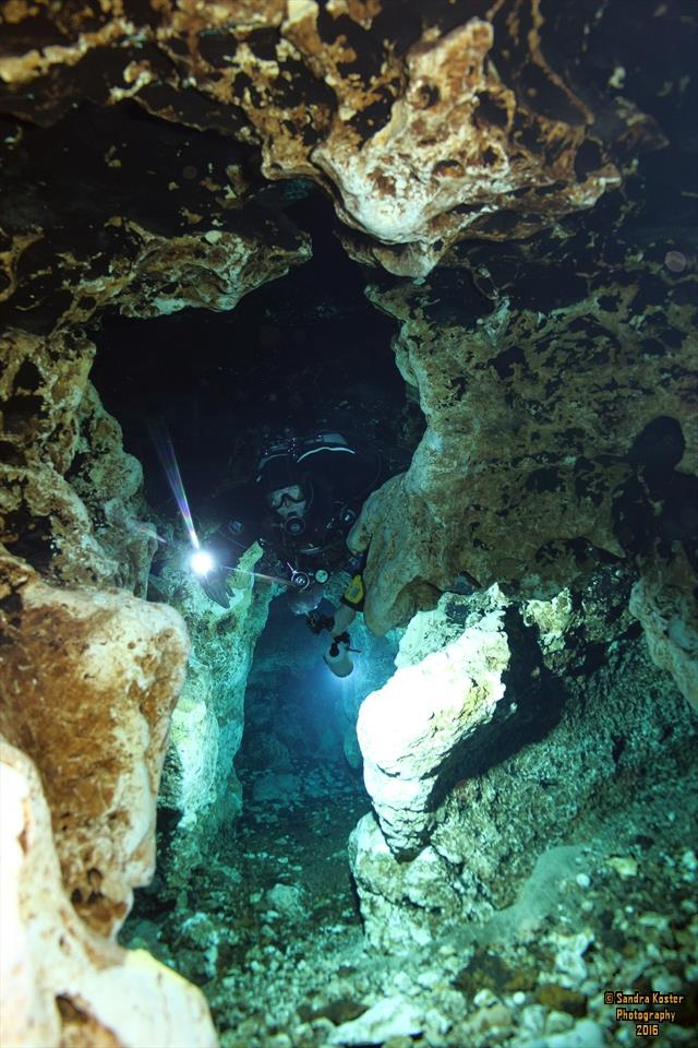 Ginnie Springs - A view looking back at the Keyhole as exiting