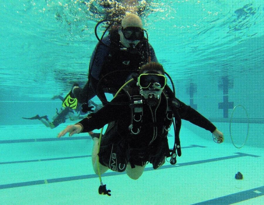 Paraplegic Diver