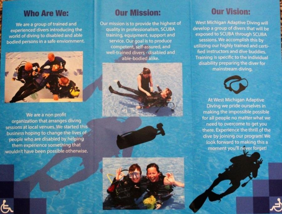 Adaptive Diving of West Michigan Pamphlet