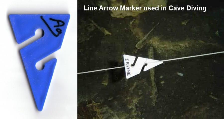 Cave Diving Line Arrow Marker