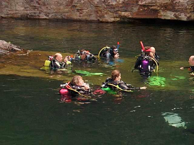 Divers at Wedge Rock