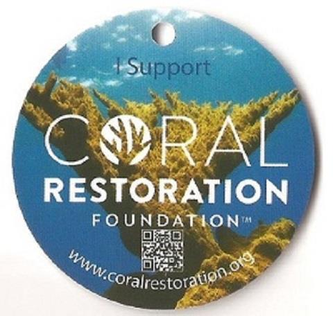 Key Largo Coral Restoration BCD Tag