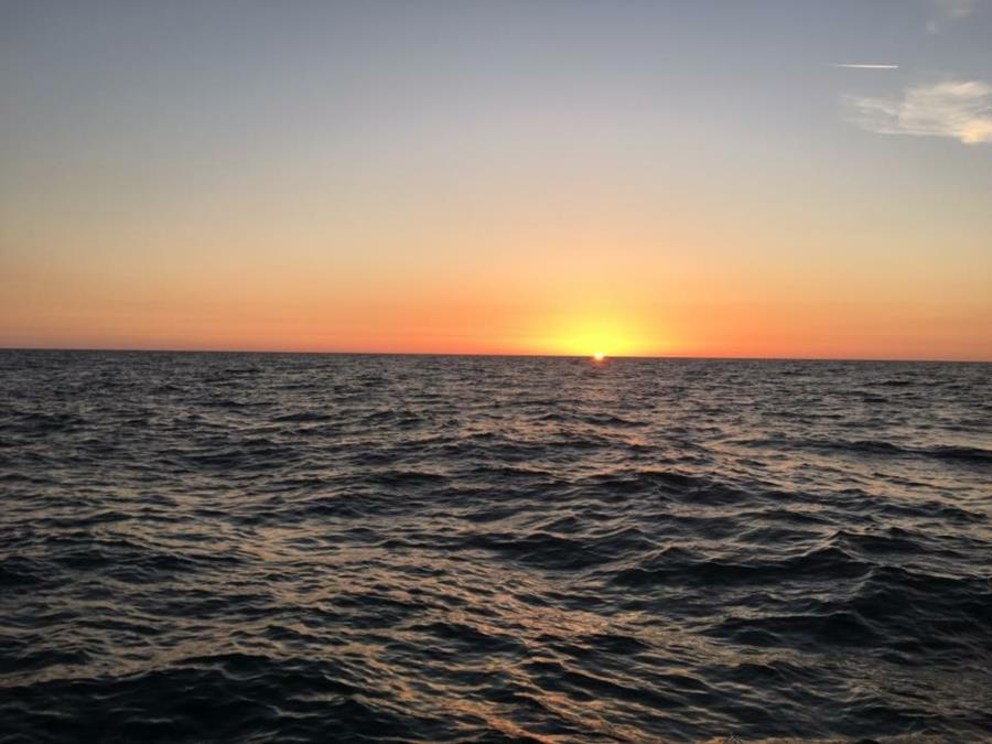 Sunset before night dive