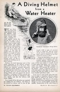 Build A Diving Helmet from a Water Heater (Jan, 1932)