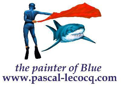 Pascal - Painter of Blue at Our World-Underwater