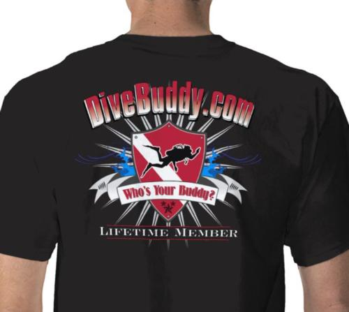 New T-Shirt for LifeTime DiveBuddy.com Members