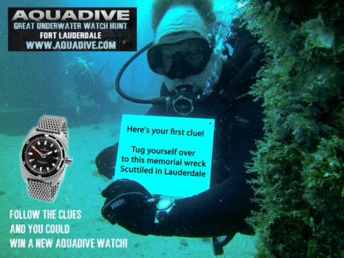 Aquadive's Second Great Underwater Watch Hunt launches in Shipwreck-rich waters