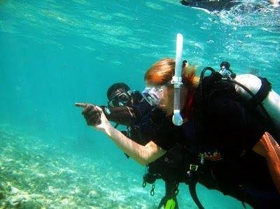 People with disability's who learn to scuba dive
