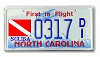 NC Vehicle Scuba Tag