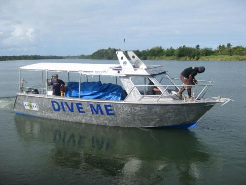 DIVE ME, new dive boat being built in Navua, Fiji for Mad Fish Dive Centre