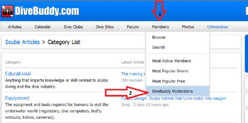 Need Help? How to Contact a DiveBuddy Moderator