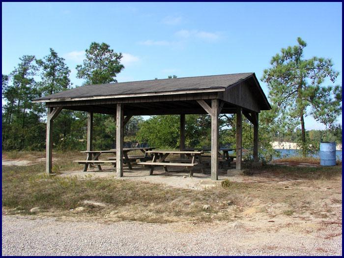Covered Picnic Tables : Fantasy lake scuba park covered picnic tables