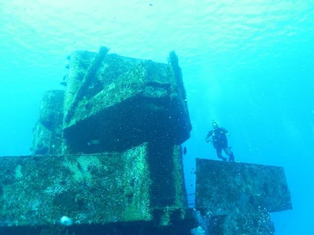 C-53 Wreck - Me at the C-53, Cozumel