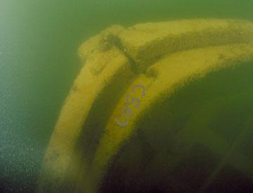 Anthony Wayne - Bow of Anthony Wayne shipwreck in Lake Erie