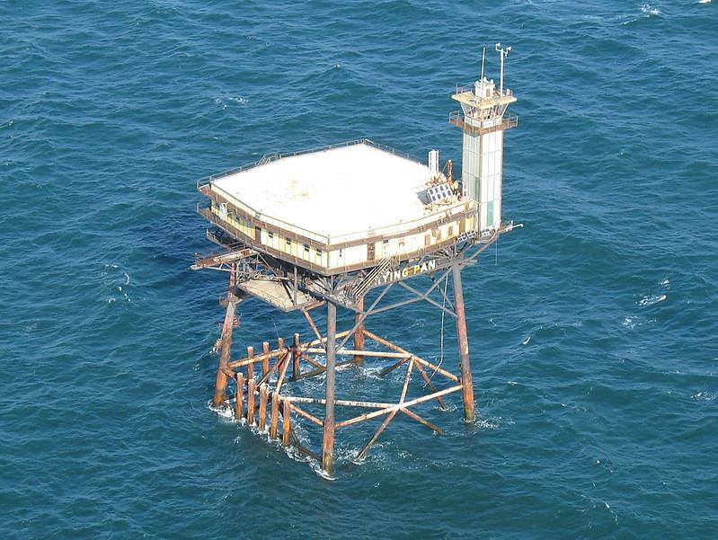 Frying pan tower light station aerial view for Frying pan tower fishing