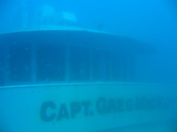 Capt. Greg MicKey - Underwater view of ship bridge