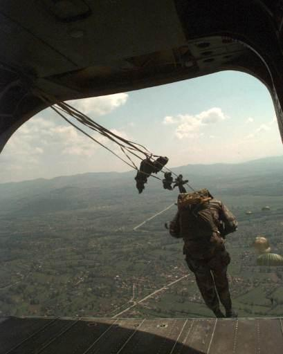 Jumping from a CH-46