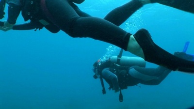 Me in a scuba diving shot, Hawaii