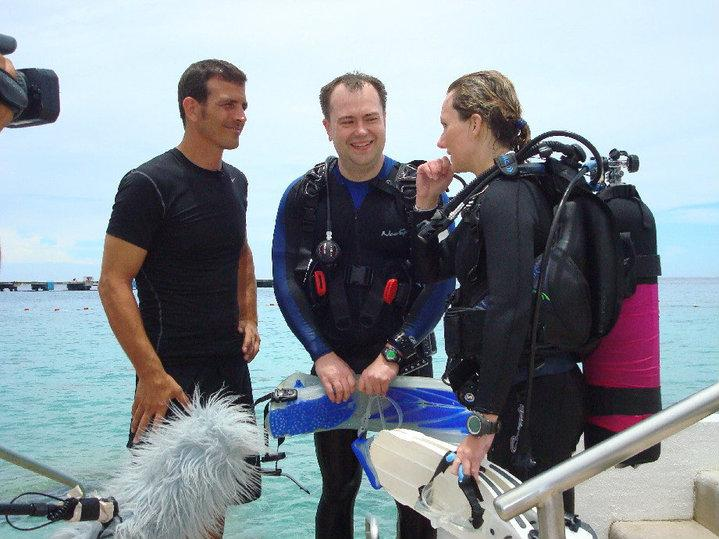 Interview during the Ultimate Diver Challenge Competition, Cozumel, Mexico