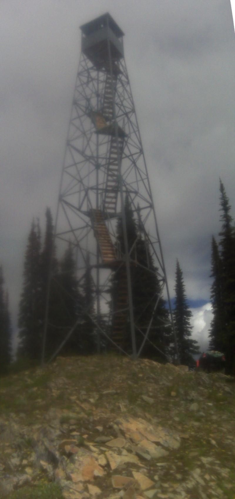 One of my office views for a few weeks this summer. 2010 USFS lookout tower rehab. Northwest Montana