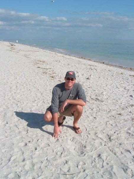 On the beach at Sanibel Island