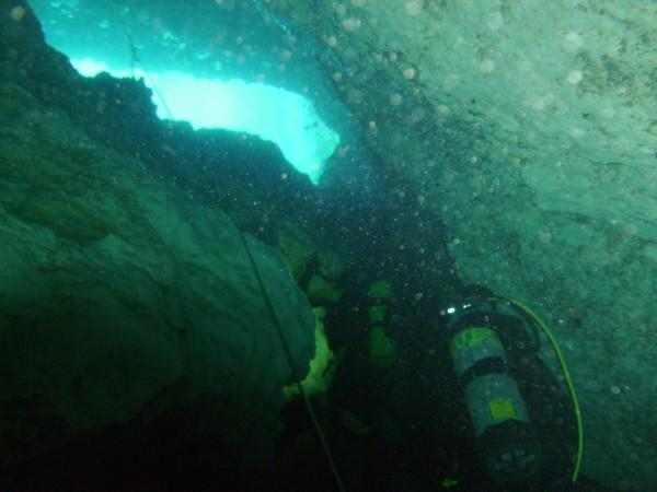 Nice shot taken on the way up from the bottom of Blue Grotto