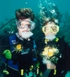 Jeff & Sue`s underwater wedding