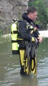 Diving at Jeff's Quarry - RockRat2008