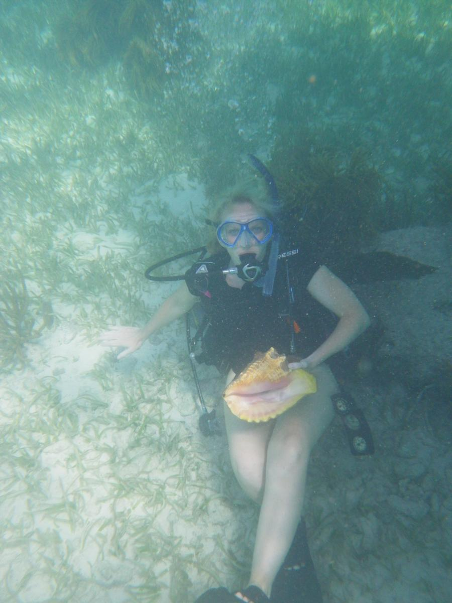 Me with a conch