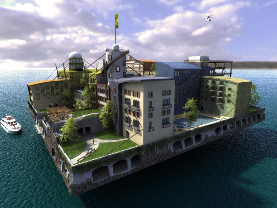 Seasteading - Example Ocean City