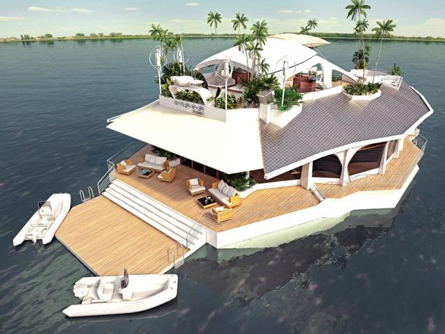 Floating Island - Luxury Yacht by Gabor Orsos for $4.8 Million