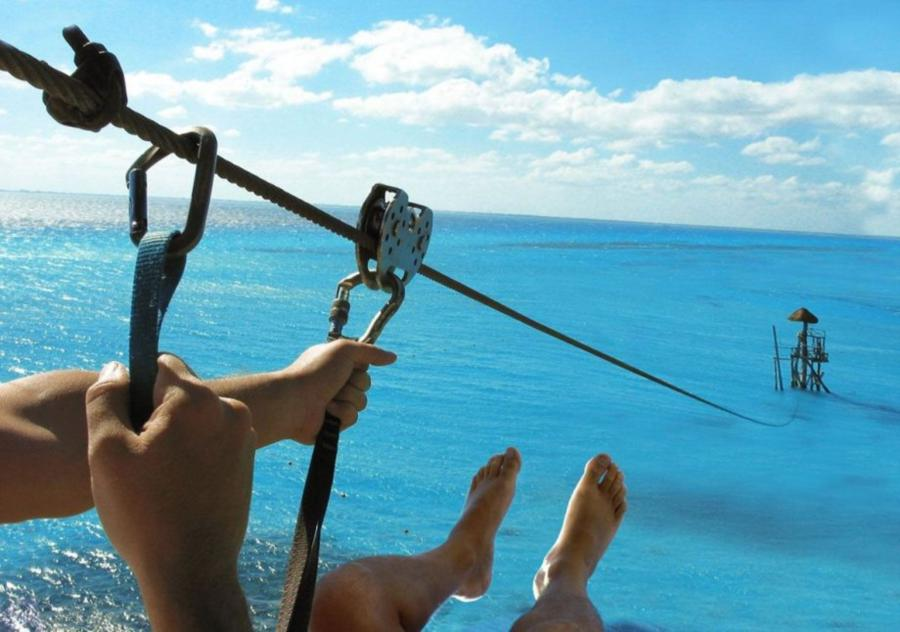 Zip line into ocean - Id do this!