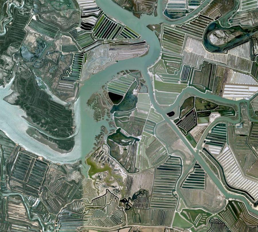 Use Google Earth to Make Art - San Fernando, Spain