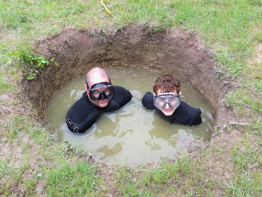 Mud Boats For Sale >> Mud diving in Texas - Zero Viz